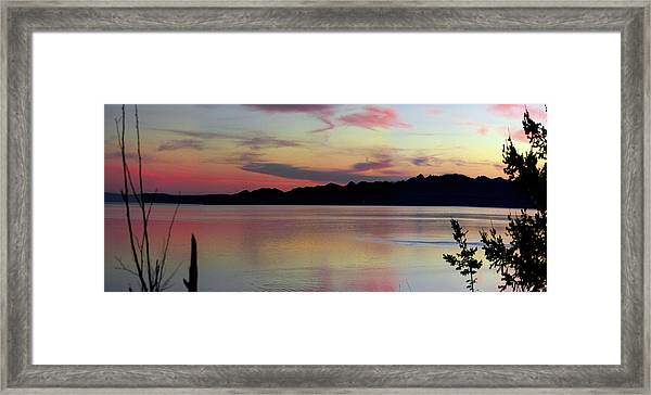 Early Whidbey Island Sunset  Framed Print by Mary Gaines