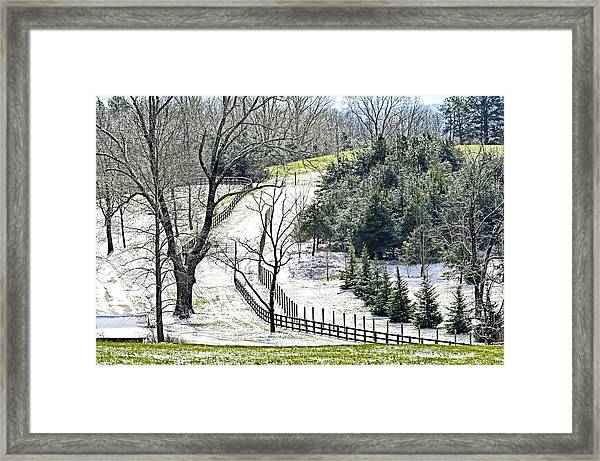 Early Winter Pasture Framed Print