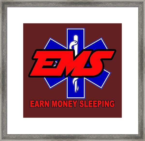 Earn Money Sleeping Framed Print