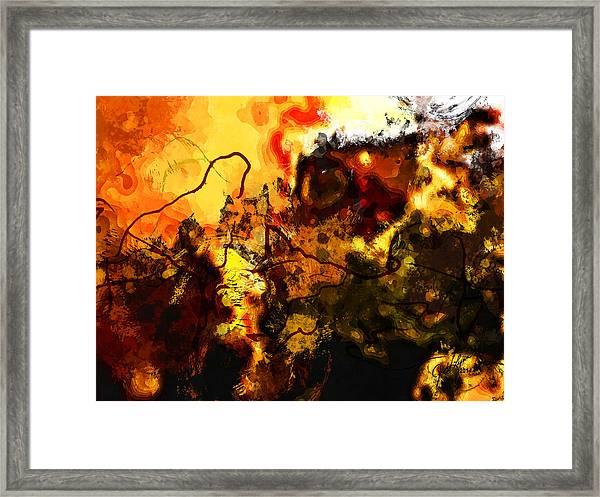 Earth And Sun Framed Print