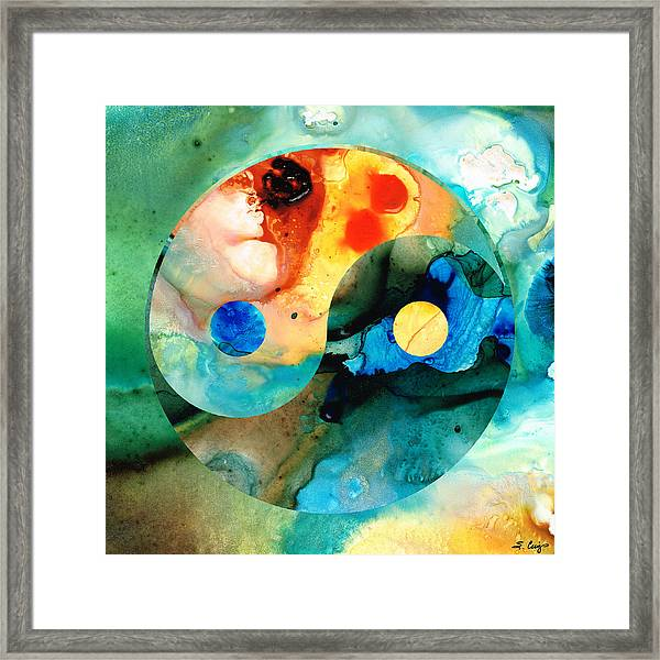 Earth Balance - Yin And Yang Art Framed Print