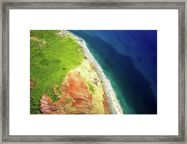 Earth Below, Na Pali Coast, Kauai Hawaii Framed Print