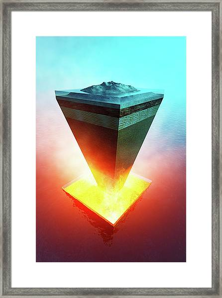 Earth Core Structure Cross-section Framed Print