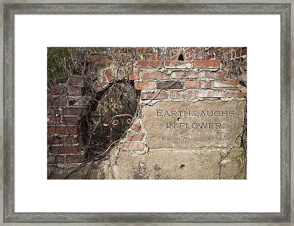 Earth Laughs In Flower Wall Framed Print
