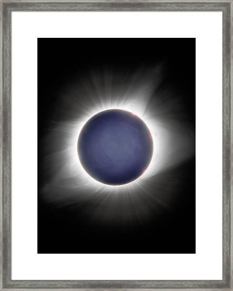 Earth-shine Framed Print