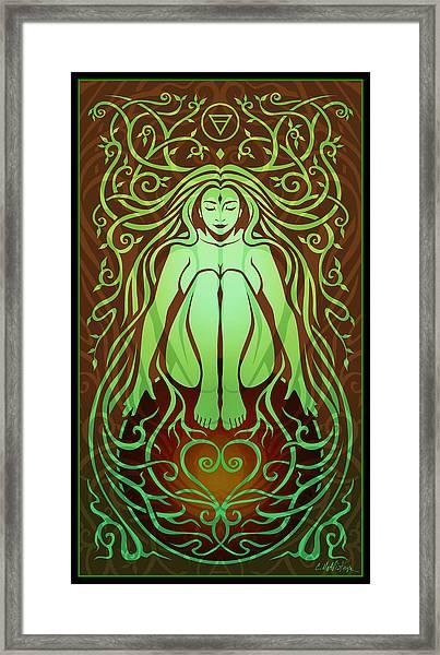 Earth Spirit Framed Print by Cristina McAllister