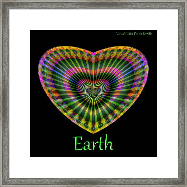 Framed Print featuring the digital art Earth by Visual Artist Frank Bonilla