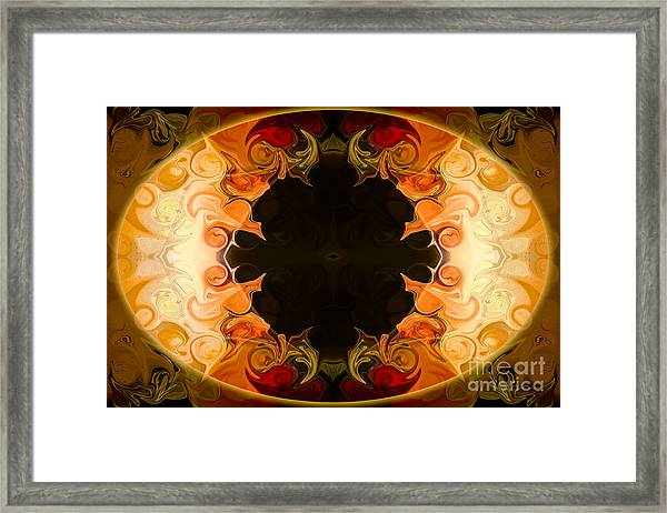 Earthly Undecided Bliss Abstract Organic Art By Omaste Witkowski Framed Print