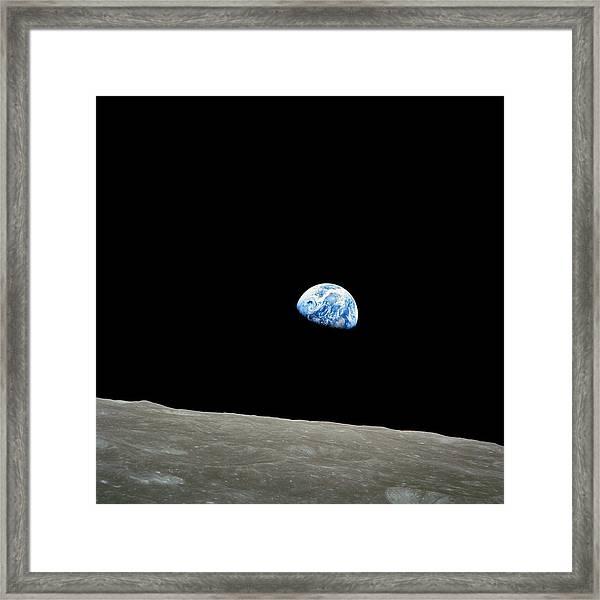 Earthrise - The Original Apollo 8 Color Photograph Framed Print