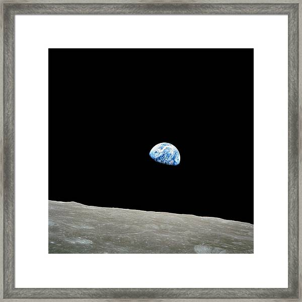 Earthrise Over Moon, Apollo 8 Framed Print