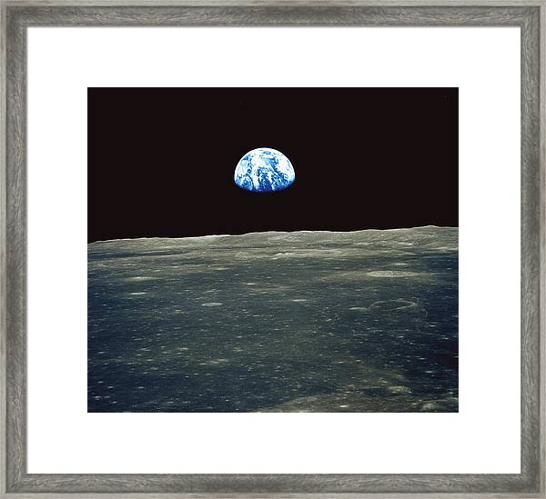 Earthrise Photographed From Apollo 11 Spacecraft Framed Print