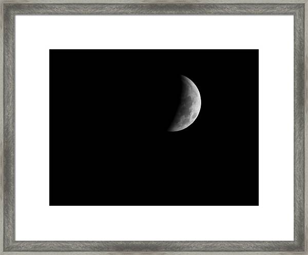 Earth's Shadow Framed Print