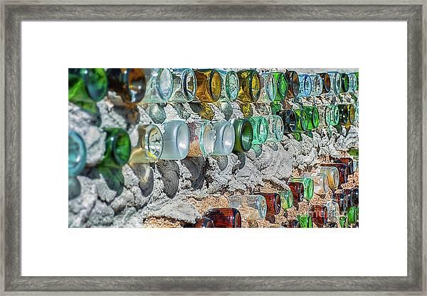 Earthship Wall Framed Print