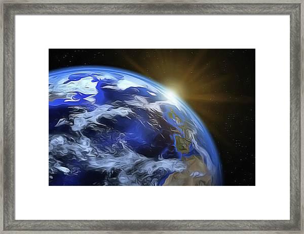 Earthview Framed Print
