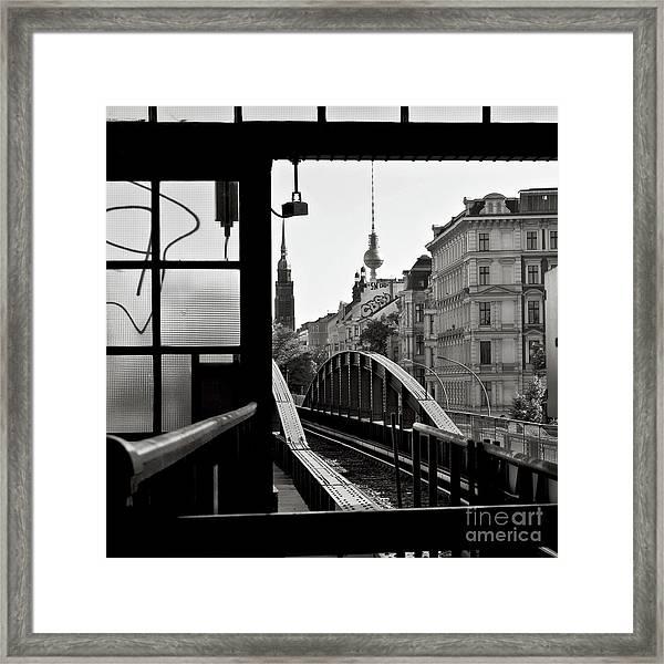 East Berlin Sound  Framed Print