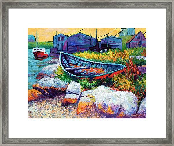 East Coast Boat Framed Print
