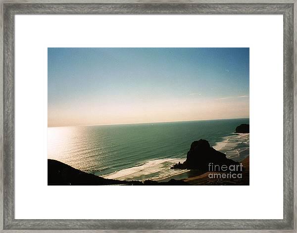 East Coastline In New Zealand Framed Print