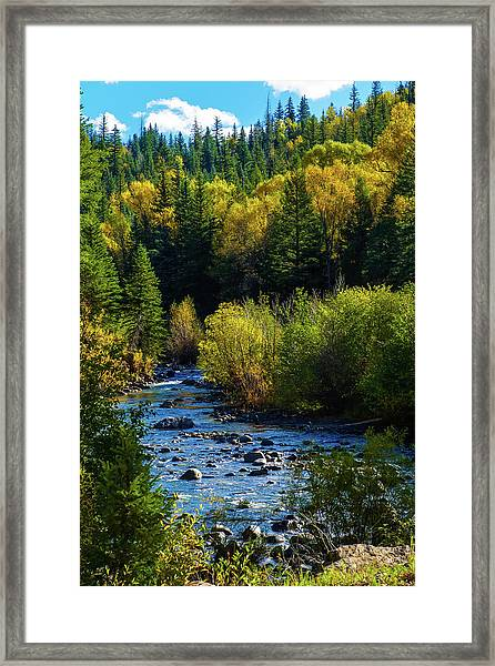 Framed Print featuring the photograph East Fork Autumn by Jason Coward