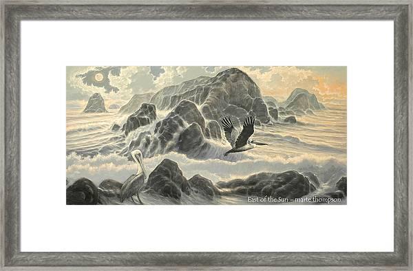 East Of The Sun Framed Print by Marte Thompson