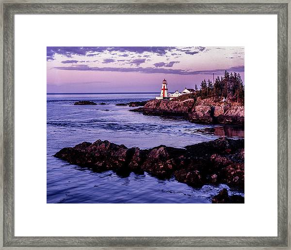 East Quoddy Head, Canada Framed Print