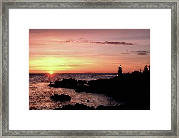 East Quoddy Head Sunup Framed Print
