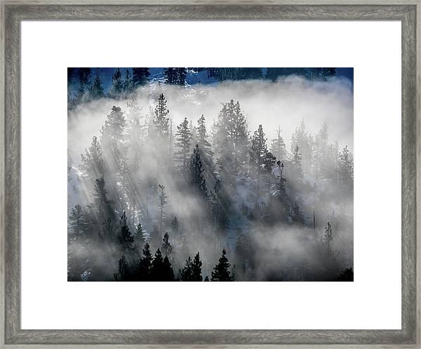 East Shore Inversion, Lake Tahoe Framed Print
