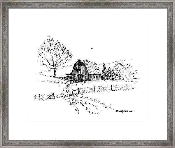 East Texas Hay Barn Framed Print