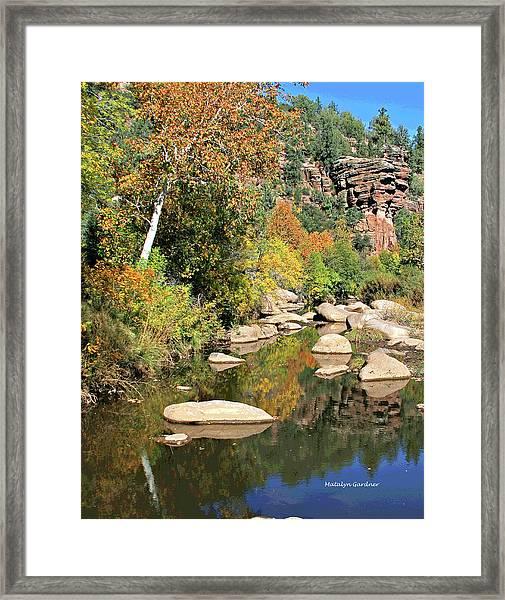 East Verde Fall Crossing Framed Print