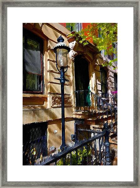 East Village New York Townhouse Framed Print