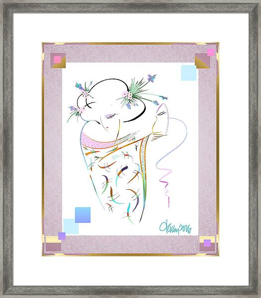 Framed Print featuring the painting East Wind - Masquerade by Larry Talley