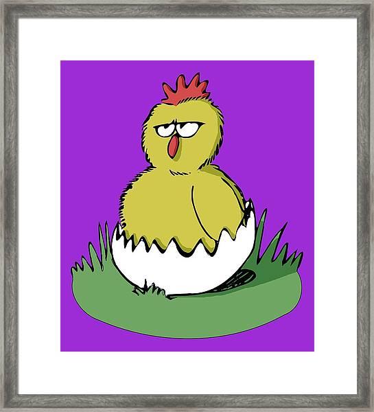 Easter Chicken Framed Print