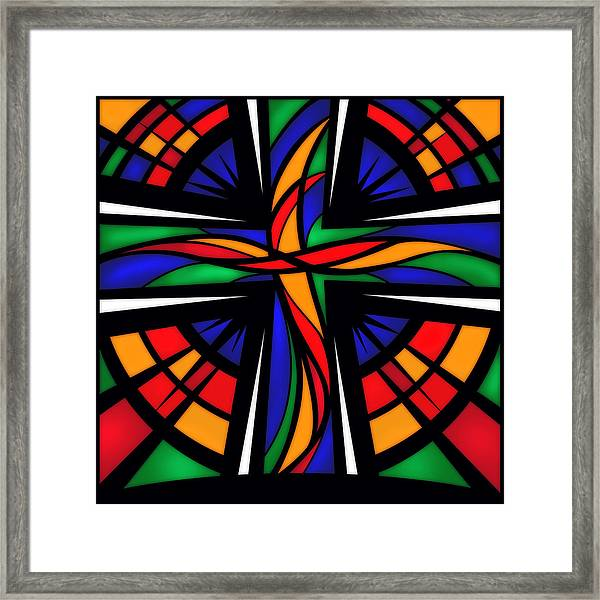 Framed Print featuring the mixed media Easter Sunday by Shevon Johnson