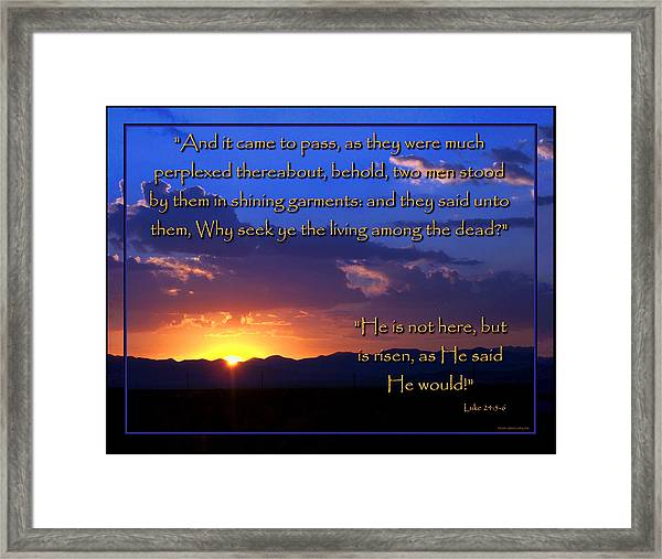 Easter Sunrise - He Is Risen Framed Print