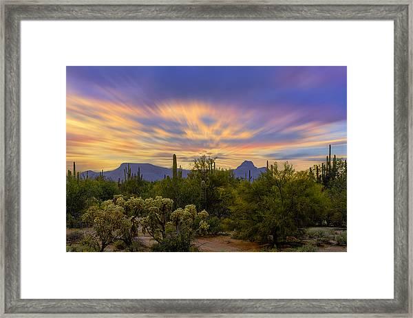 Easter Sunset H18 Framed Print