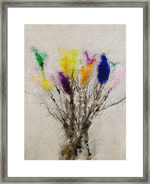 Easter Tree- Abstract Art By Linda Woods Framed Print