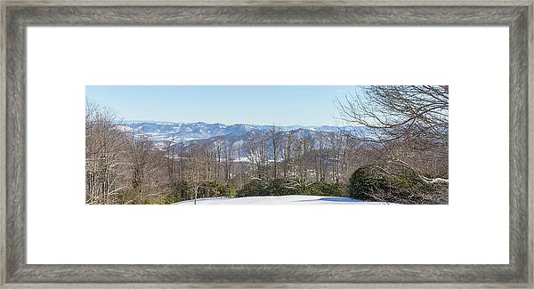 Framed Print featuring the photograph Easterly Winter View by D K Wall