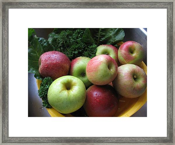 Eat Healthy Stay Healthy Framed Print
