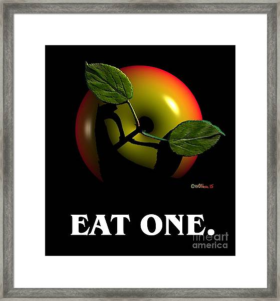 Eat One  Framed Print