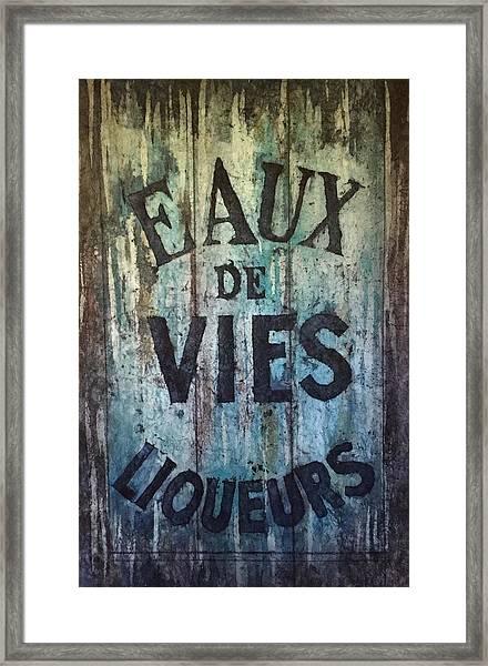 Eaux De Vies Framed Print