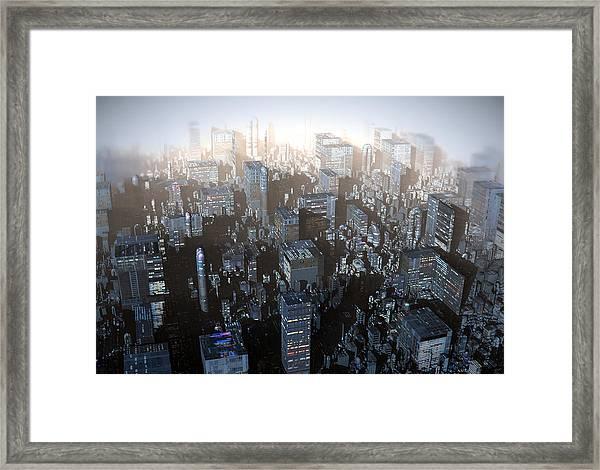 Ebony City Framed Print
