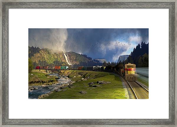 Echoes From The Caboose Framed Print