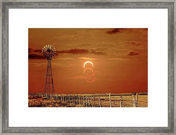 Eclipse And Lens Flares Framed Print