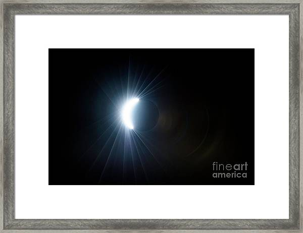Eclipse Before Totality Framed Print
