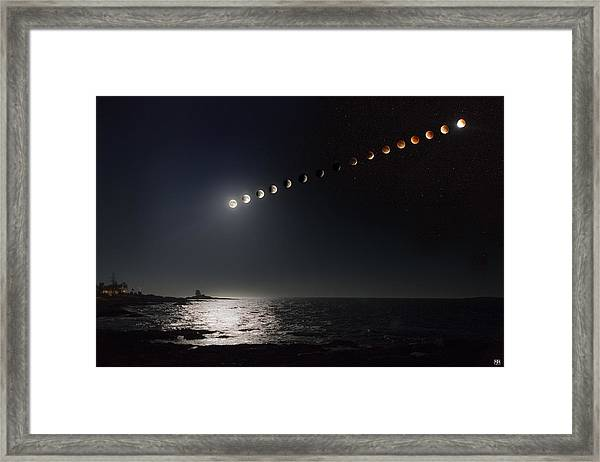 Eclipse Of The Moon Framed Print
