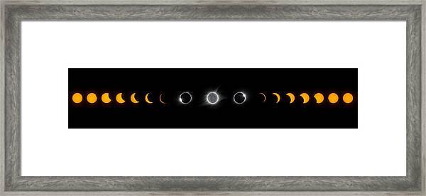 Eclipse Progression Framed Print