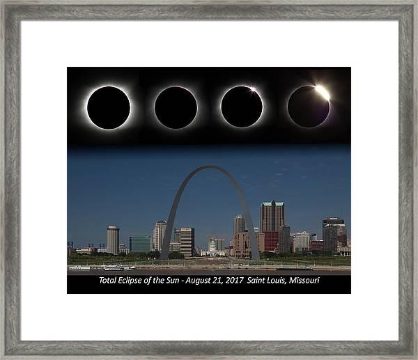 Eclipse - St Louis Skyline Framed Print