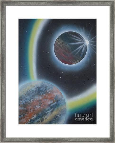 Eclipsing Framed Print