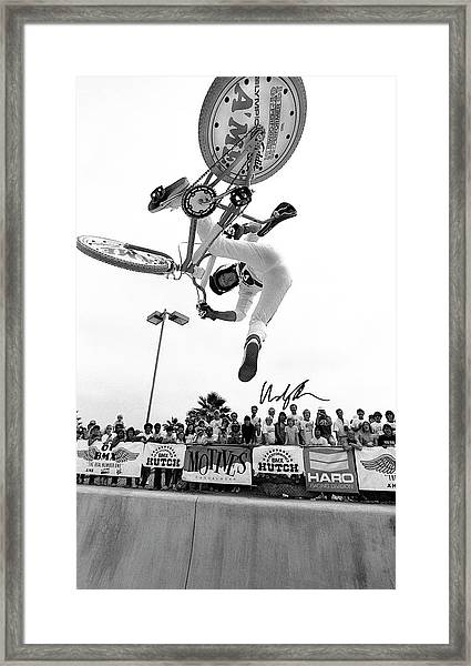 Eddie Fiola Freestylin' Cover 1986 Framed Print