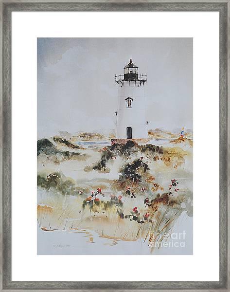 Edgartown Light Marthas Vineyard Framed Print