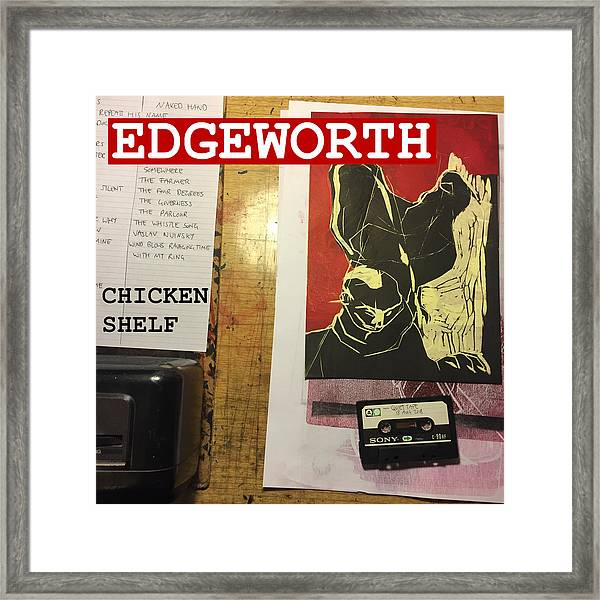 Edgeworth Chicken Shelf Cover Framed Print